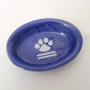 ceramic_pet_food_dish_cobalt_blue